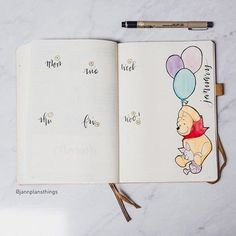 Did you know it was Winnie the Pooh day last week? So he sat on my weekly ^_^. It was nice having a spot of color on there! . . . . #bujo #bulletjournal #stationery #leuchtturm1917 #mybujo #planner #planneraddict #stationeryaddict #bujojunkies #bujolove #bulletjournaljunkies #notebook #drawing #jannplansthings #bujojunkies #bujolover #plannercommunity #studyinspiration #getorganised #bulletjournaller #planwithme #disney #poohbear #pooh #winniethepooh