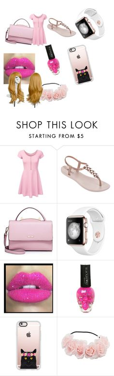 """""""Pink day!"""" by yourpalleslie ❤ liked on Polyvore featuring IPANEMA, WithChic, Glitter Pink and Casetify"""