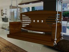 MEC 11 Indoor Indian Wooden swings in Mumbai, India Indian Furniture, Home Decor Furniture, Furniture Design, Furniture Ideas, Home Room Design, Living Room Designs, House Design, Indian Swing, Dressing Table Design