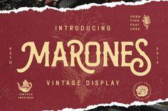 Marones #vintagefont #oldschool #strongfont #automotive #victorian #inky #retrofont #serif #hipsterfont #label