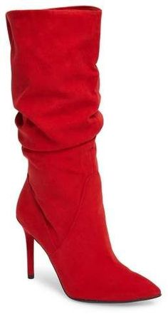 Jessica Simpson Lyndy Slouch Boot #red #boots #heels #fashion affiliate