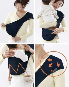 Lucky Ultra Light Baby Sling - SUPPORi - Fits in your Pocket - Dark Blue Baby Slings