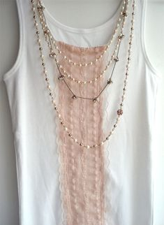 DIY:: Add Pink Lace To T-Shirts, Tops etc Tutorial