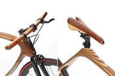 A father and his son, combining craftsmanship and knowledge, old materials and new fibers, give shape to a lightweight and durable bike made of carbon fiber and wood.