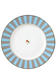 PiP Love Birds Dinner Plate Blue Pip Studio, Blue Plates, Beautiful Wall, Plates On Wall, Dinner Plates, Dinnerware, Inspiration, Tableware, Home