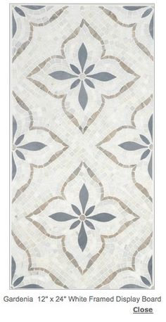 Range Backsplash inset--Cosa Marble, Gardenia Statuary White/Bardiglio/Pacific…