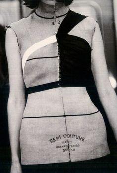 Semi Couture - reminds me of Martin Margiela