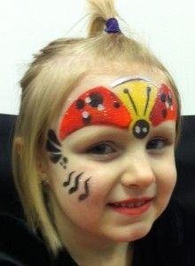 Lady Bug Face Paint Design Tutorial