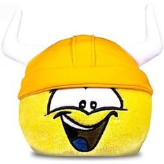 "Disney Club Penguin 4"" Yellow Pet Puffle with Viking Hat * For more information, visit image link. (This is an affiliate link) #StuffedAnimalsPlushToys"