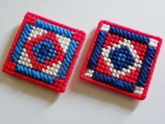 Plastic Canvas American Quilt Magnets   446 by ritascraftsandmore on Etsy