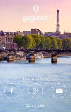 Gogobot android travel sign in Login Page Design, Mobile Ui Design, App Ui Design, User Interface Design, Material Design Examples, Google Material Design, Mobile Login, App Login, Mobile App