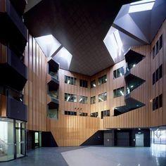 Hedley Bull Centre for World Politics by Lyons Architects Dynamic Architecture, Project 3, Dezeen, Atrium, Building Design, Architects, Centre, Concrete, Politics
