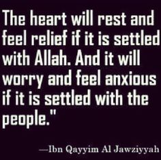 . La Ilaha Illallah, Anxious, No Worries, Feelings, Heart, Hearts
