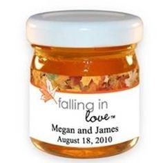 personalized fall honey favors
