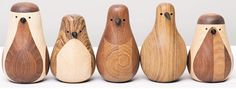 "It takes about a half of a day for Norwegian designer Lars Beller Fjetland to produce each of these ""Re-Turned"" birds by hand from leftover wood"