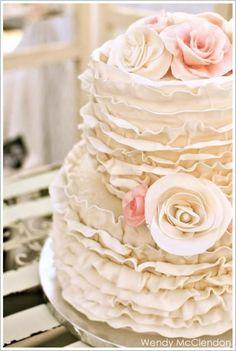 Ruffle Wedding Cakes ♥ Hochzeitstorte Design