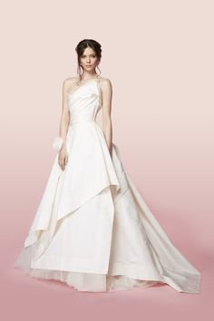 Vivienne Westwood Made-To-Order The Sueno Gown In Ivory Silk Moire With Petticoat