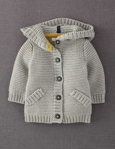 """Mini Boden 'Chunky' Cardigan - the gray would work for boy or girl"", ""Baby Knitting Patterns Shop Winter Sale 2014 Baby Clothing for Boys & Girls 0 t Chunky Cardigan, Baby Cardigan, Knit Cardigan, Hooded Cardigan, Baby Boy Knitting, Knitting For Kids, Hand Knitting, Chunky Knitting Patterns, Knit Patterns"