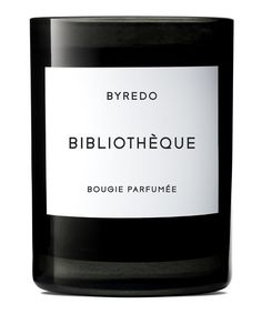Byredo Bibliothéque - a world of old books, the scent of their leather bound pages arranged on dark wood shelves