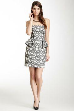 d6c743bf2b1 A.B.S. by Allen Schwartz Print Linen Peplum Dress by Non Specific on   HauteLook Nordstrom Rack