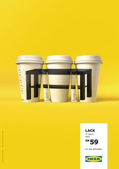 It's that affordable – Table | Ikea Furniture Coffee Cup Colourful Poster Advertising Campaign  | Award-winning Outdoor Advertising | D&AD