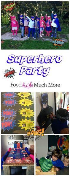 Een superhelden feestje bij je eigen thuis! Voor meer ideeën en foto's kijk op foodensomuchmore.nl #superhero # party #superhelden