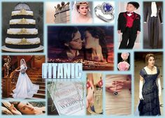 Titanic inspired wedding mood board Bought to you by www.venuescovered.co.uk Titanic Prom, Titanic Wedding, Wedding Mood Board, Wedding Pins, Wedding Bouquets, Wedding Dreams, Dream Wedding, Wedding Day, Got Married