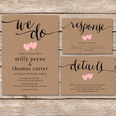 Kraft Paper Wedding Invite - Paper Hive