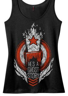 Winter Soldier // Bucky Barnes Tank Top //  He's A Ghost Story // Hand screen printed // Available in plus sizes