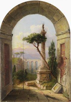 Italian Window by Russell Smith 1812-1896
