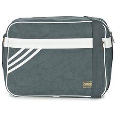 772a8b2f3f adidas Originals AIRLINER SUEDE Grey Adidas Authentiques, Sac De Gym, Sac À  Langer