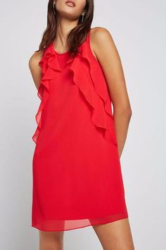 You will fall in love with this floaty tent dress with cascading ruffles at the front and back. We love it with a top knot and pointed-toe Oxfords. Keyhole back with a hook-and-eye closure Fully lined Size small measures approximately from shoulder to hem Party Dresses For Women, Nice Dresses, Casual Dresses, Casual Outfits, Valentines Day Dresses, Tent Dress, Ruffle Trim, Ruffles, Bcbgeneration