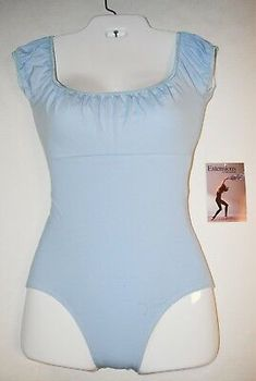 Trienawear TR1662-C Lt. Blue Adult Size Beautiful Cap-Sleeve Ballet Leotard -NWD | eBay