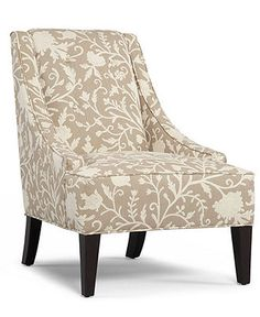 I love the neutral colors and laid back style of these chairs for the living room - understated style and charm