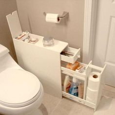 Looking to free up some room in your medicine cabinet without losing all your floor space? Look no further than this Space Saving Bathroom Floor Cabinet in White Wood Finish to serve your bathroom storage needs. Space Saving Bathroom, Small Bathroom Storage, Bedroom Storage, Space Saving Kitchen, Diy Bedroom, Apartment Space Saving, Shower Storage, Trendy Bedroom, Bathroom Floor Cabinets