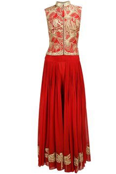 Disciplined Anarkali Suit Used Floral Gold Clothing, Shoes & Accessories
