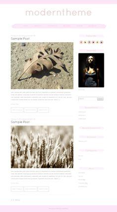pink minimal wordpress theme for blogging, responsive blog template