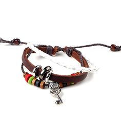 Yantu 1pc Wood Multicolor Beads Adjustable Drawstring Wirstband Leather Key Bracelet YANTU http://www.amazon.com/dp/B00N76G2JM/ref=cm_sw_r_pi_dp_C4Wpvb1D9Z6NS