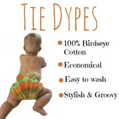 Tie Dypes - tie dyed cloth diapers!