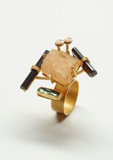 Ring, 2014, Gold, Tourmaline, Agatha, Diamonds