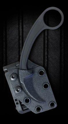 Bastinelli Creations - PiKa Picoeur Karambit Black. Model: BAS202B. N690 co steel, black cerakote coating, kydex sheath. Collaboration with Doug Marcaida and Funker Tactical.