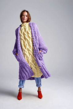 Knitwear Fashion, Knit Fashion, Fashion Outfits, Womens Fashion, Fashion Trends, New Shape, Diy Dress, Knitting Designs, Cable Knit