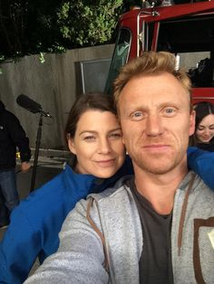 The one and only Ellen Pompeo #1123 #GreysAnatomy BTS selfie