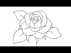 How to draw a rose - Easy step-by-step drawing lessons for kids Flower Drawing For Kids, Rose Drawing Simple, Drawing Lessons For Kids, Easy Drawings For Kids, Drawing For Beginners, Art Lessons, Drawing Ideas, Drawing Of A Rose, Drawing Lips