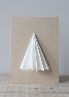 Geometric Tree Card / Blank Greetings / Origami / by NANAZOOLAN