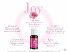 Young Living Joy Essential Oil #oilyfamilies Great for emotional health