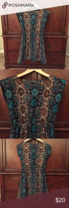 Dress Snake print dress with a elastic waist. The dress is a size small. BeBop Dresses