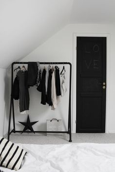 IKEA clothing rack - just bought this and set up a lil dressing area in our apt :) LOVE IT!