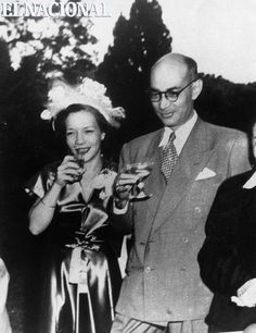 Década 60. Raúl Leoni y su esposa Menca de Leoni (ARTURO BOTTARO / ARCHIVO EL NACIONAL)
