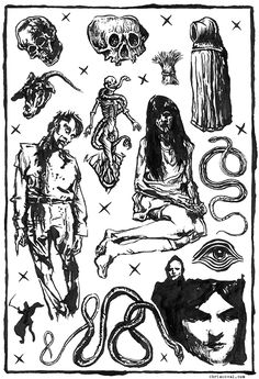 old school dark tattoo flash - Pesquisa Google